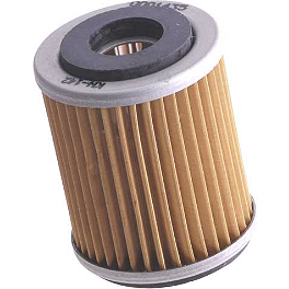 K&N Cartridge Oil Filter - 2010 Yamaha BIGBEAR 400 4X4 HMF Utility Slip-On Exhaust - Polished
