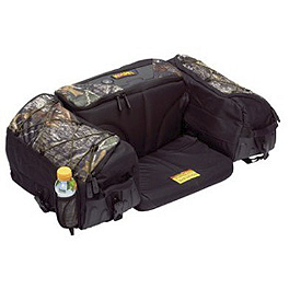 Kolpin Matrix Seat Bag - Camo - Moose Ozark Rear Rack Bag - Mossy Oak Break-Up