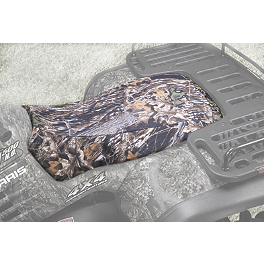 Kolpin Camouflage Seat Cover - Mossy Oak - 2006 Arctic Cat 400I 4X4 AUTO Quad Works Gripper Seat Cover - Black