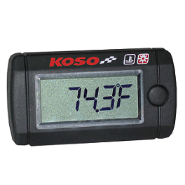 Koso LCD Temperature Gauge - 2004 Yamaha FZ6 Koso LCD Temperature Gauge