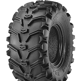 Kenda Bearclaw Rear Tire - 25x10-12 - 2000 Kawasaki BAYOU 300 4X4 MotoSport Alloys Crusher Front Wheel - 14X7 Black