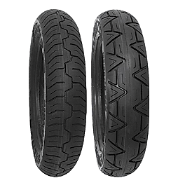 Kenda K673 Kruz Tire Combo - Bridgestone Tube 110/90-19 Straight Metal Stem
