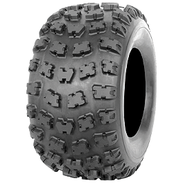 Kenda Kutter MX Rear Tire - 18x10-9 - 1999 Yamaha WARRIOR Kenda Pathfinder Front Tire - 16x8-7