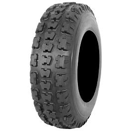 Kenda Kutter MX Front Tire - 20x6-10 - 1985 Yamaha YFM 80 / RAPTOR 80 Kenda Speed Racer Rear Tire - 22x10-10