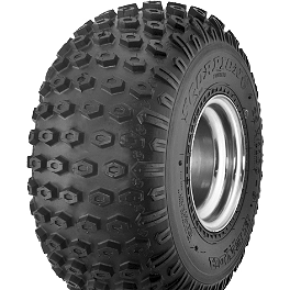 Kenda Scorpion Front / Rear Tire - 25x12-9 - 1987 Yamaha YFM 80 / RAPTOR 80 Kenda Speed Racer Rear Tire - 18x10-10