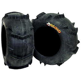 Kenda Sand Gecko Rear Tire - 18x9-8 - 2008 Can-Am DS90X Kenda Speed Racer Front Tire - 21x7-10