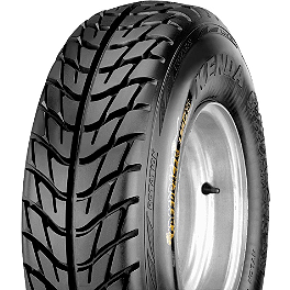 Kenda Speed Racer Front Tire - 21x7-10 - 2008 Kawasaki KFX90 Kenda Pathfinder Rear Tire - 22x11-9