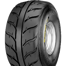 Kenda Speed Racer Rear Tire - 25x10-12 - 2008 Kawasaki BRUTE FORCE 650 4X4i (IRS) Kenda Bearclaw Front Tire - 25x8-12