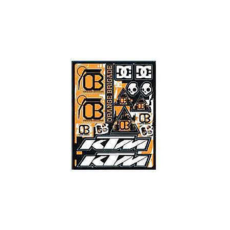 KTM Powerwear Orange Brigade Sticker Sheet - Main