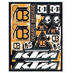 KTM Powerwear Orange Brigade Sticker Sheet - PARTS Motorcycle Parts