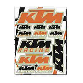 KTM Powerwear KTM Sticker Sheet - KTM Powerwear Orange Brigade Sticker Sheet