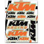 KTM Powerwear KTM Sticker Sheet - KTM OEM Parts Dirt Bike Trim Decals