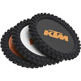 KTM OEM Parts Knobby Coaster Set - Metal Mulisha Goggle Rockstar T-Shirt