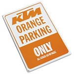 KTM OEM Parts Parking Sign - Motorcycle Collectibles