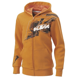 KTM Powerwear Youth Splatter Zip Hoody - One Industries Youth Yamaha Stripes Hooded Fleece Jacket