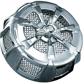 Kuryakyn Alley Cat Air Cleaner Cover - 2010 Triumph Rocket 3 Roadster Kuryakyn Footpeg Adapters - Front