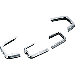 Kuryakyn Nacelle Accent Trim Pieces - Show Chrome Radio Side Accents
