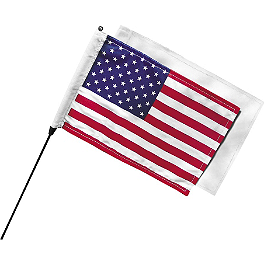 Kuryakyn Antenna Mount Flag Kit - Kuryakyn Lighted Curved Vertical Side Mount License Plate Holder