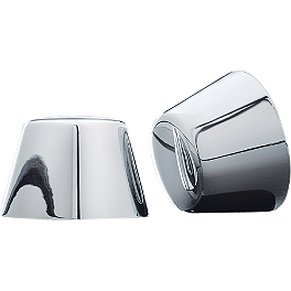 Kuryakyn Axle Nut Covers - 2005 Harley Davidson Road King Classic - FLHRCI Kuryakyn Plug-In Driver Backrest