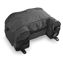 Kuryakyn Deluxe Convertible Luggage Rack Bag - 2005 Yamaha Road Star 1700 Warrior - XV17PC Kuryakyn Footpeg Adapters - Front
