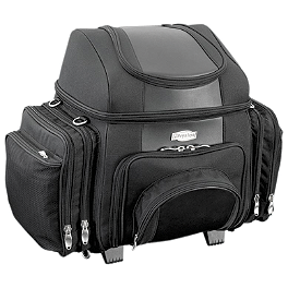 Kuryakyn Grantailgater Bag - 2007 Yamaha Road Star 1700 Warrior - XV17PC Kuryakyn Footpeg Adapters - Front