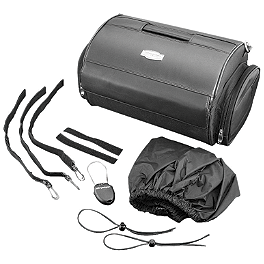 Kuryakyn Tour Trunk Roll Bag - 2006 Yamaha V Star 650 Custom - XVS65 Kuryakyn Footpeg Adapters - Front