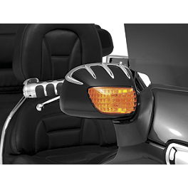 Kuryakyn Bear Claw Mirror Accents - 2007 Honda Gold Wing 1800 Audio Comfort - GL1800 Kuryakyn Footpeg Adapters - Front