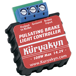 Kuryakyn Pulsating Brake Light Controller - Kuryakyn Short Black Magnum Footpeg Mounts 1/2