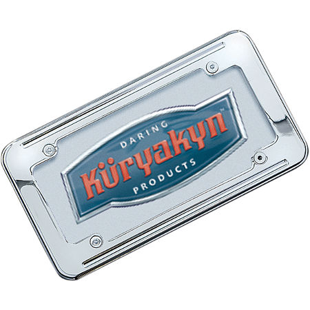Kuryakyn Ball-Milled License Plate Frame - Main