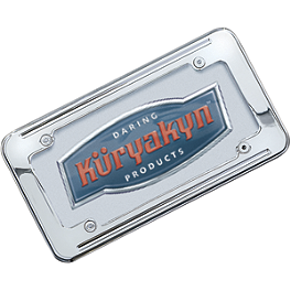 Kuryakyn Ball-Milled License Plate Frame - 2007 Yamaha V Star 1100 Silverado - XVS11AT Kuryakyn Footpeg Adapters - Front
