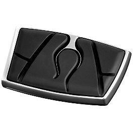 Kuryakyn Brake Pedal Pad - Flamin - 2008 Kawasaki Vulcan 900 Classic - VN900B Show Chrome Vantage Rear Highway Boards