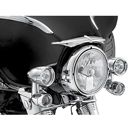 Kuryakyn Bat Brow - 2008 Harley Davidson Road King - FLHR Kuryakyn Plug-In Driver Backrest