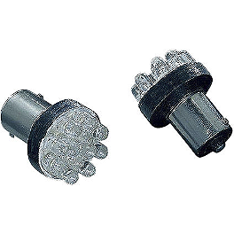 Kuryakyn 1156 Amber LED Bulb - Kuryakyn Turn Signal Glass Mirrors - Flat
