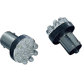Kuryakyn 1157 Amber LED Bulb - Kuryakyn Deep Dish Bezels With Lenses For Bullet Turn Signals
