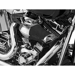 Kuryakyn Corsair Air Cleaner Pre-Filter - 2007 Harley Davidson Road King - FLHR Kuryakyn Custom Tie-Down Brackets - Silhouette