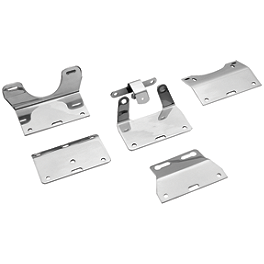 Kuryakyn Driving Light Bar Mounting Bracket - Show Chrome Turn Signal Adapters For Contour And Elliptical Driving Light Kits