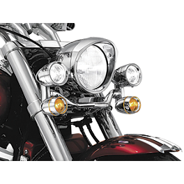 Kuryakyn Constellation Driving Light Bar Without Mount Bracket - 1991 Yamaha VMAX 1200 - VMX12 Kuryakyn Footpeg Adapters - Front