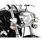 Kuryakyn Constellation Driving Lights With Turn Signals Without Fork Mount - Kuryakyn Cruiser Parts