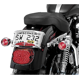 Kuryakyn Curved License Plate Frame With Run-Turn-Brake - 2004 Honda VTX1800R2 Kuryakyn ISO Grips