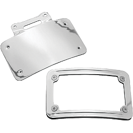 Kuryakyn Curved License Plate Frame - 1998 Honda Shadow ACE Tourer 1100 - VT1100T Kuryakyn Handlebar Control Covers