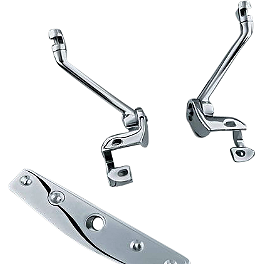 Kuryakyn Cruise Arm Support Kit - Show Chrome Front Slider Peg System - Diamond