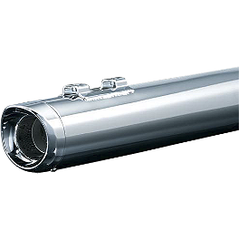 Kuryakyn Crusher Mufflers With Slip Stream Tips - Kuryakyn Sixgun Exhaust Tips