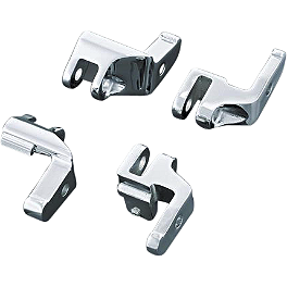 Kuryakyn Relocator Brackets For Driver Boards - 2009 Harley Davidson Road King - FLHR Kuryakyn ISO Grips