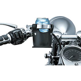 Kuryakyn Drink Ring With Beverage Carrier - 1988 Yamaha VMAX 1200 - VMX12 Kuryakyn Footpeg Adapters - Front