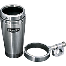 Kuryakyn Drink Holder With Stainless Steel Mug - 2006 Yamaha Road Star 1700 Midnight Warrior - XV17PCM Kuryakyn Footpeg Adapters - Front
