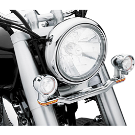 Kuryakyn Driving Light Bar Without Mount - 1999 Harley Davidson Road King Classic - FLHRCI Kuryakyn Custom Tie-Down Brackets - Silhouette