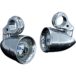 Kuryakyn Engine Guard Mounted Driving Lights - Kuryakyn Small Halogen Silver Bullets With Fork Mount