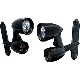 Kuryakyn Driving Light Kit - Black - Kuryakyn Driving Light Kit - Chrome