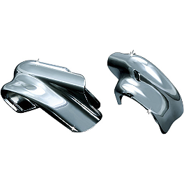 Kuryakyn Engine Guard Mount Tab Covers - 2002 Harley Davidson Electra Glide Standard - FLHT Kuryakyn Deluxe Windshield Trim
