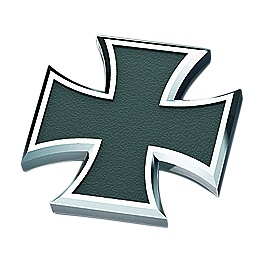 Kuryakyn Replacement Maltese Cross Emblem For Kaiser Pegs - Kuryakyn Footpegs With Male Mounts - ISO Sweptwing